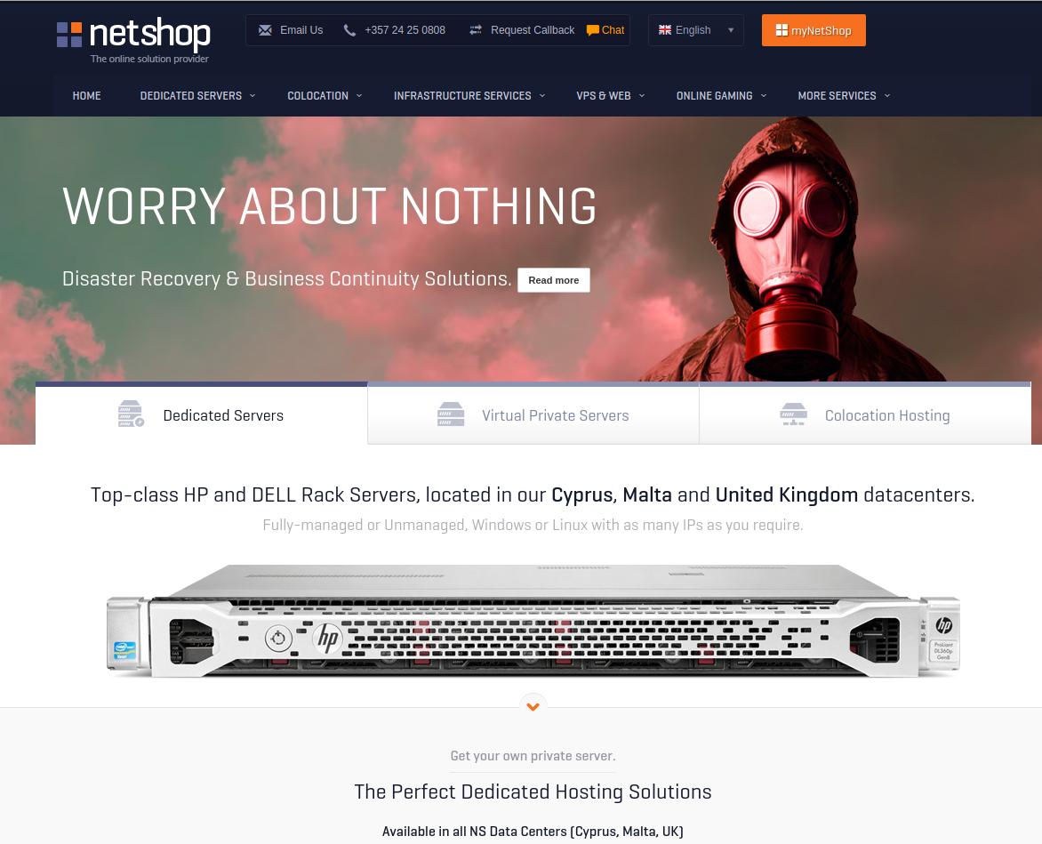 NetShop Internet Services Ltd home page