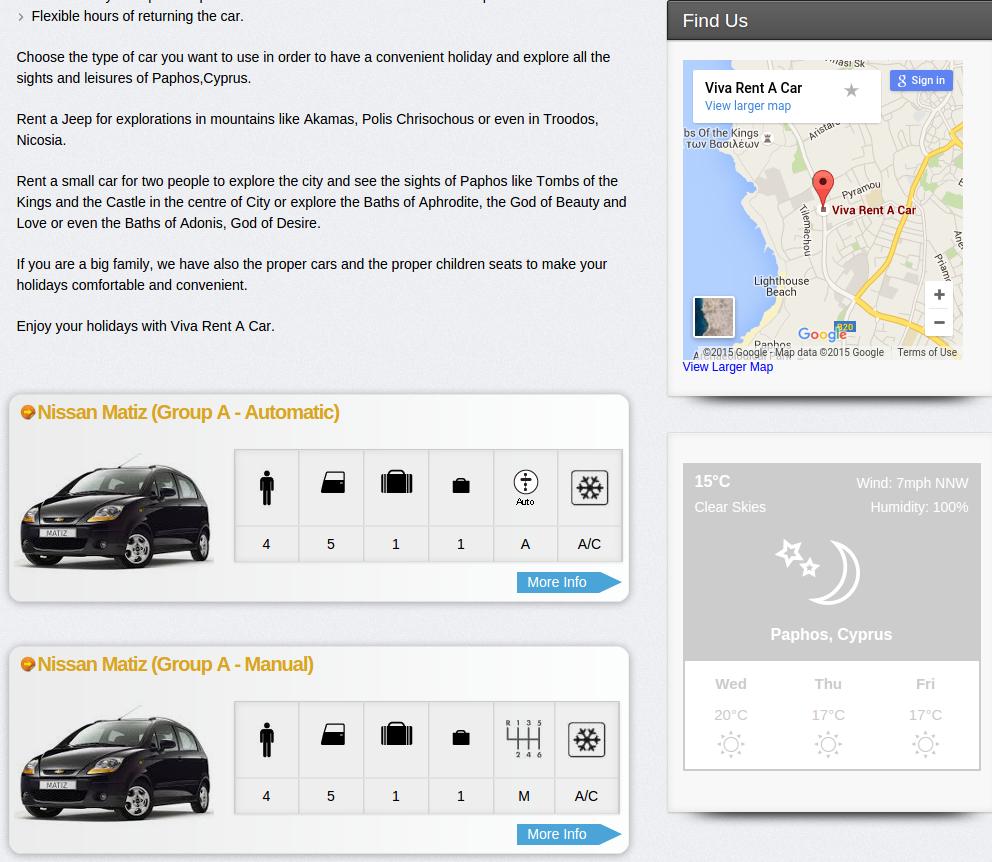Viva rent a car paphos fleet