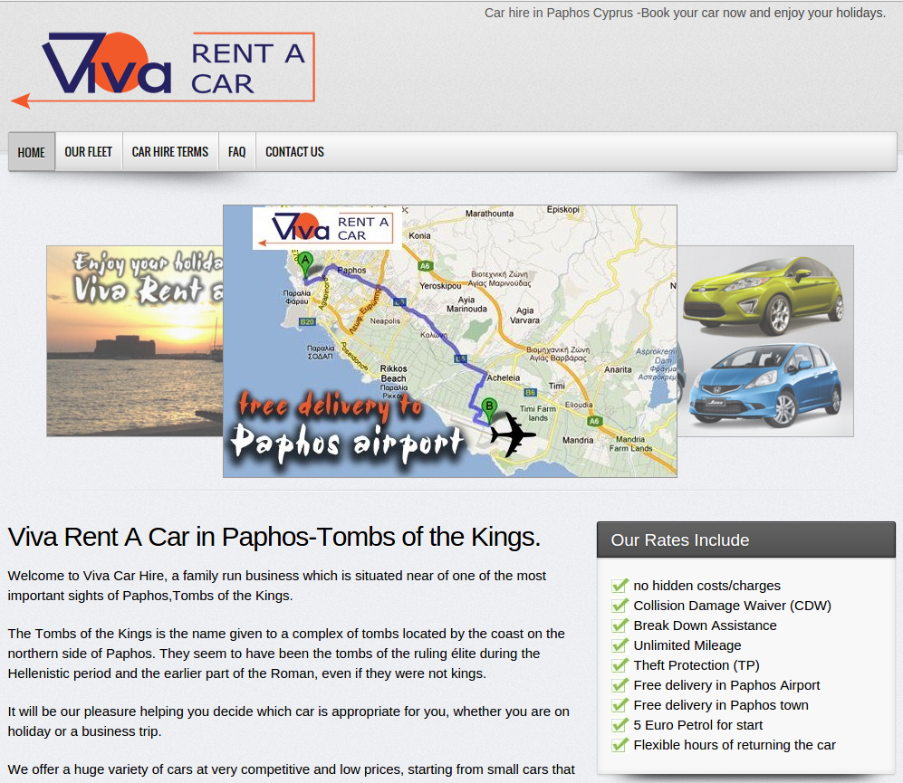 Viva rent a car paphos developed by Valentinos Papasavvas
