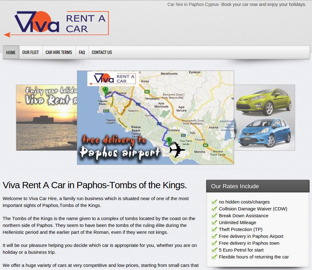 Viva rent a car paphos developed by Valentinos Papasavvas